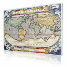 CANVAS (Rolled) Antique Old Vintage V3 World Map Wall Art Pictures Oil Paints