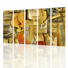 CANVAS (Rolled) Violin And Grapes Pablo Picasso 5 Panels Wall Art Pictures