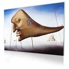 Alonline Art - CANVAS (Rolled) Sleep Face Salvador Dali Wall Decor Artwork