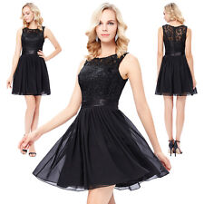 Black Short Mini Bridesmaid Dresses Formal Cocktail Party Prom Evening Ball Gown