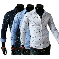 Hot Busines Mens Luxury Long Sleeve Casual Formal Slim Fit Stylish Dress Shirt