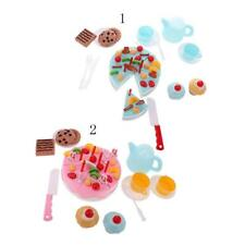 54Pcs/Set Plastic Kitchen Birthday Cake Toy Pretend Play Food Gift for Kids