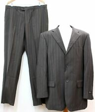 WILLERBY SMITH Men's Grey Striped Two Piece Single Breasted Suit UK46R W38 L32
