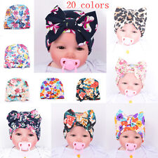 New Newborn Infant Girl Baby Toddler Bowknot Floral Beanie Warm Hat Hospital Cap