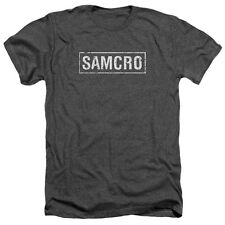 Sons Of Anarchy Samcro Mens Heather Shirt Charcoal