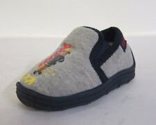 Boys Grey Fireman Sam Slippers- 'Sam Will Save The Day'- Great Price!