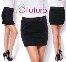 Womens Strech Waist Pencil Mini Skirt With Animal Pattern On The Side FZ130