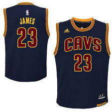 adidas Cleveland Cavaliers Youth Navy Blue Replica Alternate Jersey - NBA