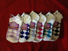 FootJoy Women's ProDry Golf Sportlet Argyle Socks - Choose Color