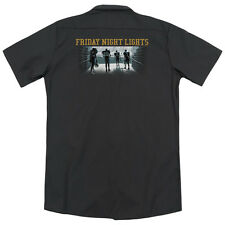 Friday Night Lights Game Time (Back Print) Mens Work Shirt BLACK