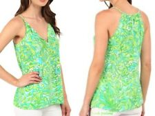 NWT LILLY PULITZER SILK FINN TOP FRESH CITRUS GREEN PARROT XS,L HTF SOLD OUT