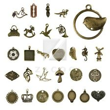 2-100pcs Wholesale Antique Brass Spacer Metal Charm Pendant Jewelry Findings