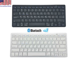 Bluetooth Slim Wireless Keyboard for Android Windows iOS Mac PC Notebook Desktop