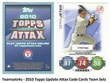 2010 Topps Update ATTAX Code Cards Baseball Set ** Pick Your Team **