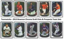 2013 Bowman Chrome Draft Picks & Prospects Baseball Set ** Pick Your Team **