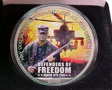 2003 Silver Eagle 1 oz  .999 Pure Silver Coin  MORGAN MINT Defenders of Freedom