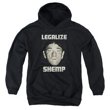 The Three Stooges Legalize Shemp Big Boys Youth Pullover Hoodie BLACK
