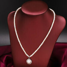 100% natural cultured fresh water pearl  AA3-4mm-10-11MM white necklace