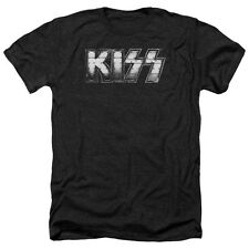 Kiss Heavy Metal Mens Heather Shirt Black
