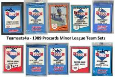 1989 ProCards Minor League Baseball Team Sets ** Pick Your Team Set **