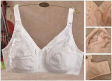 New!!! Womens Full Coverage Wire Free No Padded Lace Push Up Bra 38-44 B C D E