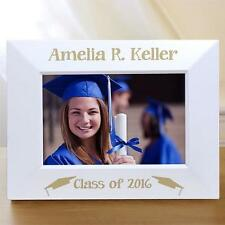 Personalized Graduation Gift Picture Frame Graduation Cap White Photo Frame