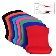 Cozy Wrist Rest Support Mouse Mat Game Mice Pad for PC Laptop Computer 9 Colors
