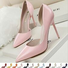High Heeled Pointy Toes Women's Ladies Stiletto Court Shoes Side Cut Away Sexy
