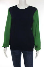 3.1 Phillip Lim for Target Blue Green Crew Neck Contrast Detail Sweater Size M