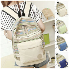Casual Women School Rucksack Canvas Backpack Travel Satchel Shoulder Bag Top