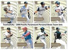 1999 Pacific Paramount Personal Bests Baseball Set ** Pick Your Team **