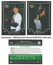 2009 Bowman Chrome Draft Picks, Prospects & WBC Baseball Set ** Pick your Team *