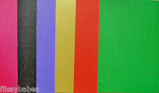 10 x A4 Sheets Glitter Card in Gold/Red/Purple/Green/Black 280gsm