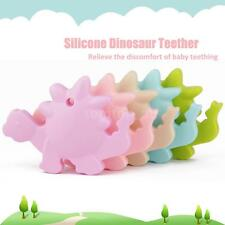 Baby Teething Pendant Necklace Teether Cute BPA-Free Silicone Bead Dinosaur A2P3