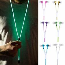 3.5mm In-Ear Glow In The Dark Zipper Headphone Earphone Headset Headphone Earbud