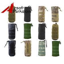 7 Colors Tactical Molle Utility Dump and Open Top Bottle Pouch with Mesh Bottom