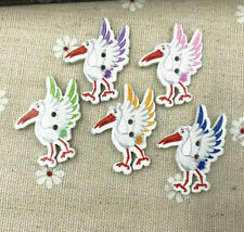Wooden Sewing buttons bird-shape Fit Sewing decoration scrapbooking 32mm