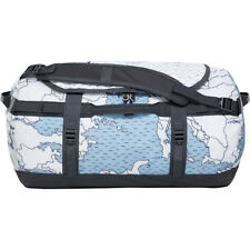 North Face Base Camp Small Unisex Bag Duffle - Dusty Blue Around The World Print