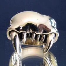 BRONZE BIKER RING FANG MONSTER TOOTH TEETH VAMPIRE ZOMBIE EMO ANY SIZE
