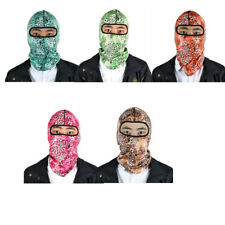 Outdoor Lycra Camouflage Pattern Full Face Mask Balaclava Cycling Hood Hat Cap