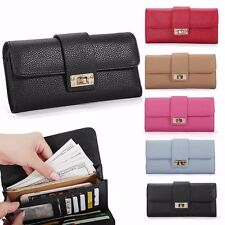 Women Leather Bifold Wallet Clutch Phone Card Holders Purse Lady Long Handbag