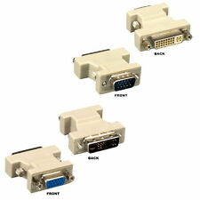 VGA HD15 15 pin to DVI-A 12+5 pin Male/Female Adapter Coupler PC MAC TV Monitor