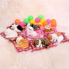 Lovely Kid Toy Simulation Animal Doll Plush Mini Sleeping Cat Toys with EN24H01