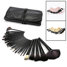 Professional 32pcs Soft Cosmetic Eyebrow Shadow Makeup Brush Set Kit + Pouch Bag