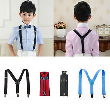 Childrens Suspenders Boys Braces Black Red Grey Girls Youth Suspenders Fashion