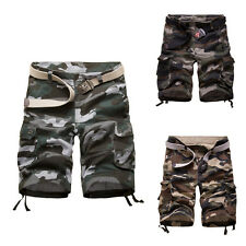 New Men Army Cargo Combat Camo Camouflage Overall Shorts Casual Pants Trousers