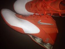 NIKE SHOX Mens Size 16 White Orange Basketball Running Workout Shoes Silver