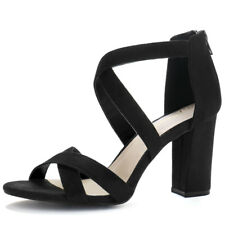 Women Crisscross Strappy Open Toe Heeled Sandals