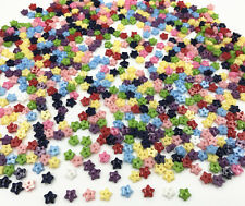 Mixed Colors star shapes Resin Buttons 2 holes sewing scrapbooking 6mm