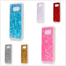 Luxury Bling Glitter Crystal Clear Soft TPU Case Cover For iPhone Samsung Galaxy